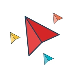 paper plane isolated icon vector image