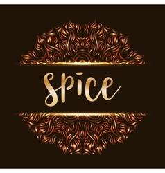 Spice shop logotype mandala vector image vector image