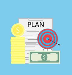 Successful financial plan flat vector