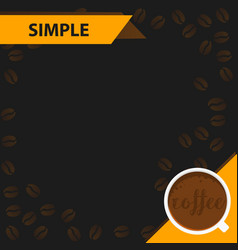 banners manu coffee vector image vector image