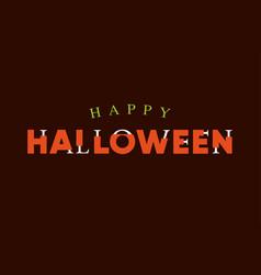 happy-halloween-title-logo-with-bones-lettering vector image vector image