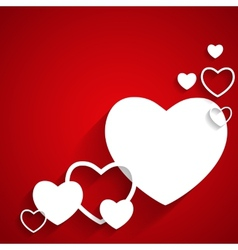 Happy Valentines Day Card with Heart Flat vector image vector image