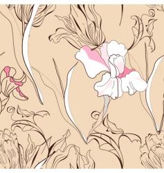 romantic seamless background vector image