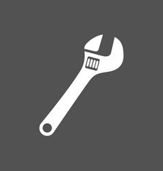 Wrench icon on dark background vector