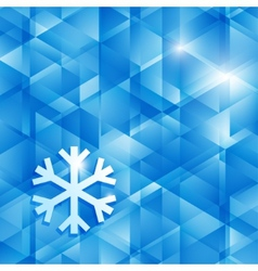 Blue abstract background of triangles vector image