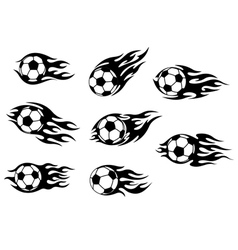 Football and soccer tattoos vector image vector image