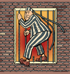 A prisoner escapes from prison jailbreak vector