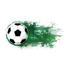 a soccer ball with watercolor vector image