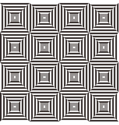 abstract black and white geometric pattern vector image