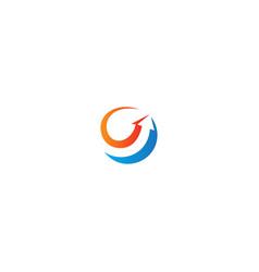 arrow abstract colored logo vector image