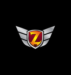 auto guard letter z icon logo design concept vector image