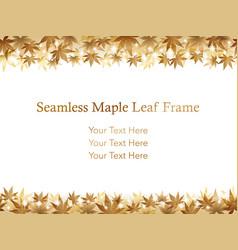 Autumn leaf frame 8 vector