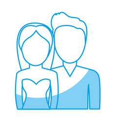 Avatar couple icon vector