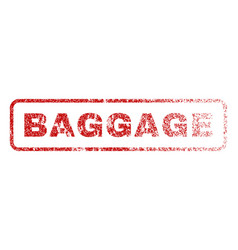 Baggage rubber stamp vector
