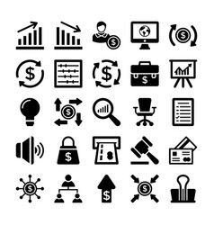 banking and finance line icons 8 vector image vector image