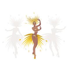 beautiful dancing girl dressed like a star vector image