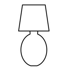 bedroom lamp isolated icon vector image vector image