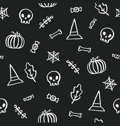 Black and white halloween background vector