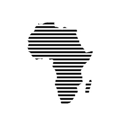 Black linear symbol of africa map on white vector image