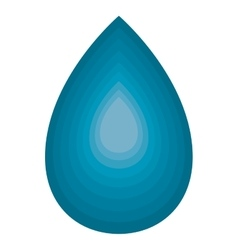 Blue drop water isolated on white vector