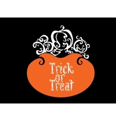 Boo trick or treat card design vector