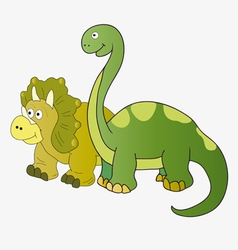 Brachiosaurus and Triceratops vector image