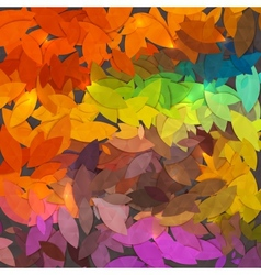 Bright abstract autumn foliage background vector image