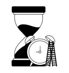 business hourglass clock and stairs vector image