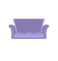 cabriole sofa icon flat style vector image