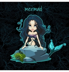 Card with the mermaid and space for text vector
