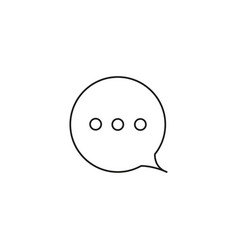 Chat waiting icon vector