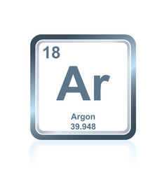 chemical element argon from the periodic table vector image