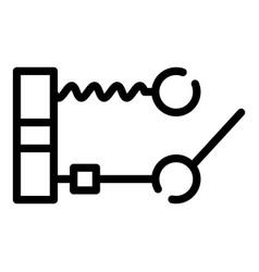 Circuit breaker icon outline style vector