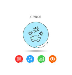 clean car icon cleaning wash station sign vector image