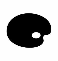 color palette dark silhouette vector image