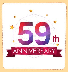 Colorful polygonal anniversary logo 2 059 vector
