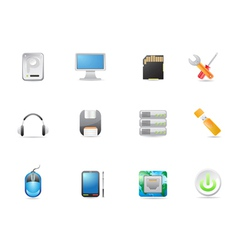 computer equipment icon vector image