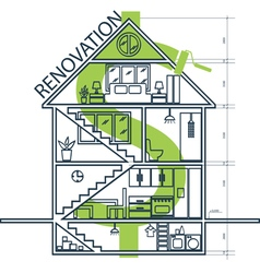Concept of house remodeling infographic vector image