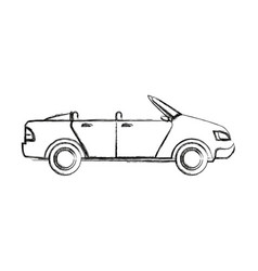 Convertible car sport vehicle transport vector