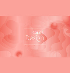 coral color background fluid shapes pattern vector image