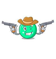 Cowboy circle character cartoon style vector
