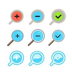 Different zoom color icons set Design elements vector image