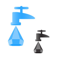 Drop from a faucet vector