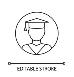 education linear icon vector image