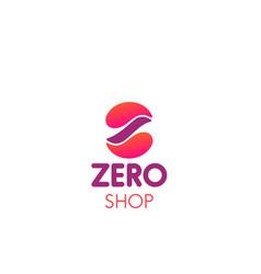 emblem zero shop vector image