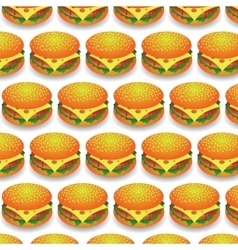 Fast Food Pattern Fresh Hamburger Background vector