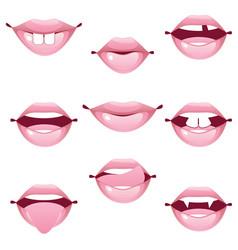 female lip gestures set vector image