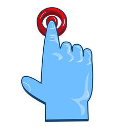 finger click on white vector image