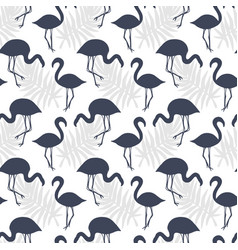 flamingo birds seamless pattern vector image