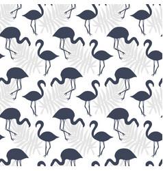 flamingo birds seamless pattern vector image